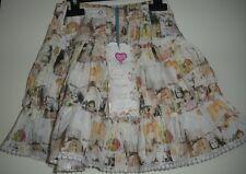 Mim-pi divine vintage dolls girls Sz 110 5 skirt bubble layered lace trim NWT