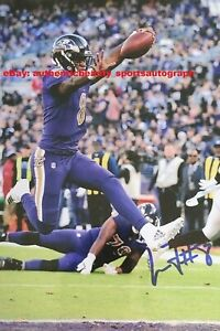 LAMAR JACKSON PHILADELPHIA EAGLES NFL AUTO SIGNED 12x18 POSTER PHOTO REPRINT RP