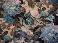 2-1/4Y Mulberry FD315 Floral Pompadour Printed Velvet Sage Upholstery Fabric