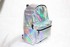 School Backpack Tote Bag Women Girl Fashion PVC Hologram Holographic New Popular
