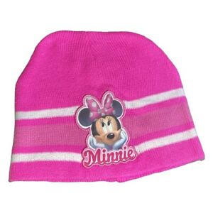 Youth Girl MINNIE MOUSE BEANIE Pink knit hat Disney