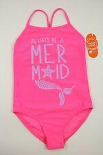 Wonder Nation Girls Pink Mermaid Graphic 1 Piece Swimsuit Swimwear Size M NEW