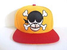 Monkey Skull Two Tone Yellow/Red Embroidered Snapback Cap