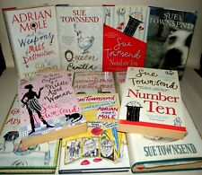 Sue Townsend Signed Collection - HB & PB, 12 Books - Belonged to Her Family.