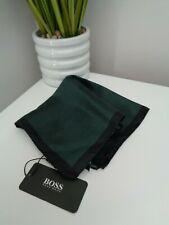 Bnwt Hugo Boss schwarz grün Streifenmuster POCKET SQUARE Taschentuch Hankie