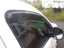 To Fit 2016+ Peugeot Partner Smoke Tinted Window Wind Rain Deflectors - Adhesive