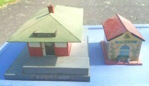 Vintage American Flyer Mystic Station & Lionel 48W Whistle Station lot