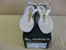 Mephisto Women's Sandals Gavina WHITE Leather  New  Size 8 US / 38 cont