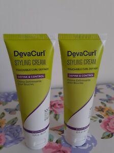 2 X DevaCurl STYLING CREAM touchable curl definer Define & Control 44.3ml 88.6ml
