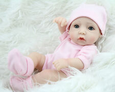 11'' Length Silica Gel Made Baby Girl Doll Model for 1-3 Years Old Baby Gift