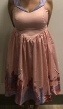 New Disney parks Dress Shop Pink Satin Fantasyland Dress for Women size Xl $128