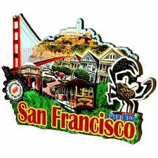 3d San Francisco Magnet Wooden 3d Design 3 Inches