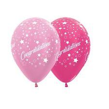 Party Supplies Graduation Congratulations Stars Metallic Pink Balloons Pk10