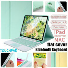 Universal Touchpad Bluetooth Keyboard Stand Case Cover For iOS Android Tablet