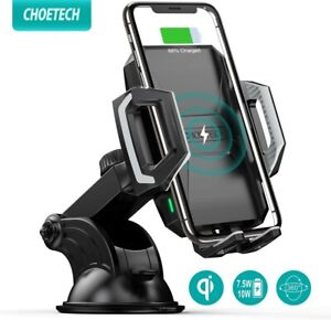 Choetech Qi Fast Wireless Car Charger Mount Phone Holder Dashboard High Quality