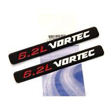 2x OEM 6.2L VORTEC HOOD Emblems Badge Chevy Silverado 3D Sierra F Matte Black