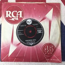 "Elvis Presley Vinyl 7"" Heartbreak Hotel / All Shook Up RCA 1088 Ex Condition"
