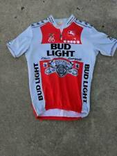 Bud Light Giordana Unisex Cycling Shirt White Red Quarter Zip Vintage Jersey 6
