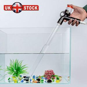 Fish Tank Gravel Cleaner Kit Pump Siphon Water Clean Vacuum Aquarium Cleaning UK