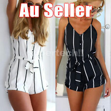 Chiffon Unbranded Striped Jumpsuits, Rompers & Playsuits for Women