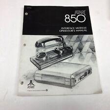 Atari 850 Interface Module Operator's Manual 1980 Vintage computing VeryNice