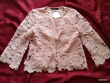 HALLHUBER chaqueta rosa 3D Encaje Talla 34 UK6 PVP NUEVO