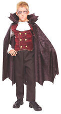 Kids Vampire Dracula Costume Gothic Cosplay Halloween Child Size Large 12-14