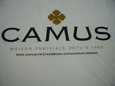 """CAMUS COGNAC - FRANCE - """"MAISON FAMILIALE DEPUIS 1863"""" PROMO MEN'S T-SHIRT LARGE"""
