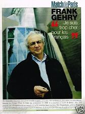 Coupure de Presse Clipping 2001 (3 pages) Frank Gehry