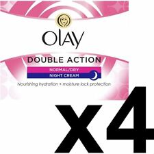 4 x Olay Double Action Moisturiser Normal Dry Skin Night Cream Classic Care 50ml