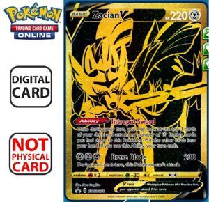 Zacian V Black Gold Promo SWSH076 Pokemon TCG Online Digital Card