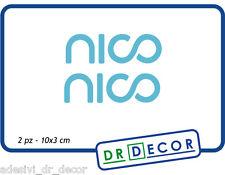 2 Adesivi Nico Rosberg Stickers Formula 1 - 10x3 cm - Colore turquoise