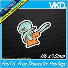 Squidward Dabbing Sticker/ Decal - JDM Drift Car Dab Funny Meme Spongebob Vinyl