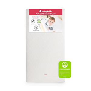 Babyletto Pure Core Crib Mattress Hybrid Quilted Waterproof Cover, Greenguard