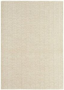 Asiatic Ives Flatweave Cotton Jute Hall Runner Rug Natural Beige 66 x 200 cm