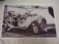 1959 FORD STATION WAGON  NASTY WRECK   11 X 17  PHOTO  PICTURE