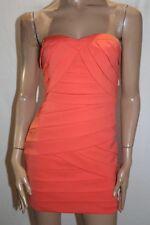 Honey & Bean Brand Coral Bodycon Strapless Drama Dress Size 10 BNWT #TQ33