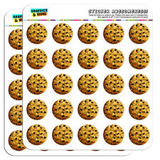 """Chocolate Chip Cookie 1"""" Scrapbooking Crafting Stickers"""
