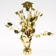 Gold Graduation Cap Foil Centerpiece