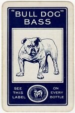Playing Cards 1 Swap Card - Old Vintage ROBERT PORTER Brewery BULL DOG BASS Beer