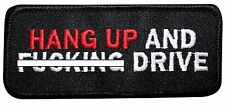 """Motorcycle Rider Biker Jacket Patch """"Hang up and Drive"""" Iron-On Apparel Applique"""