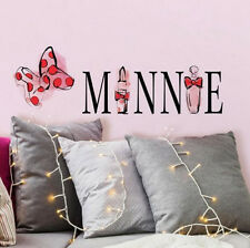 MINNIE MOUSE PERFUME wall stickers 2 big decals Disney room decor bow