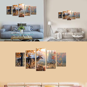 5 Panels Modern Wall Hanging Canvas Art Printing Oil Home Decor Picture ·