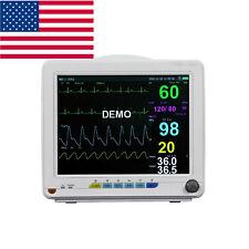 Ce Medical Multi Parameter Veterinary Patient Monitor Nibp Spo2 Ecg Temp Resp Pr
