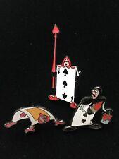 Disney Alice in Wonderland 3 Pin Set - Playing Cards
