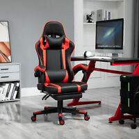 Vinsetto High Back Office/Sport Chair w/Reclining Rear Adjustable Height, Red
