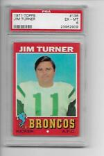 1971 Topps #136 Jim Turner PSA 6 EX-MT Denver Broncos