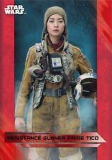 Star Wars Last Jedi Red Parallel Base Card #19 Resistance Gunner Paige Tico