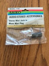 SAIKO AUDIO/ STEREO Accessories Stereo Mini Jack To Mono Mini Plug Model: 1735