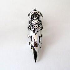 New Chrome Armor Full Finger Claw Ring Punk Goth Metal - Alien Bones IW
